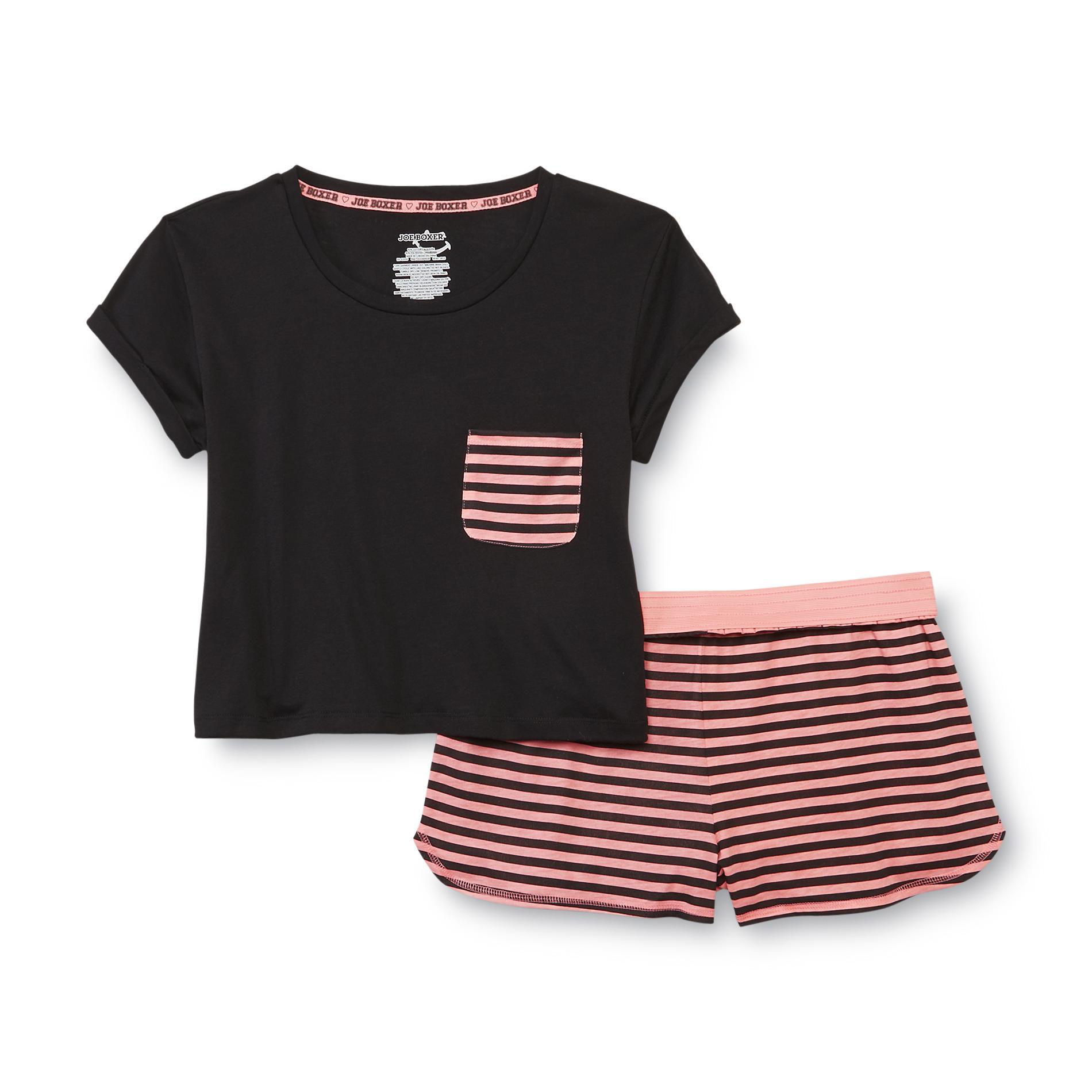 Joe Boxer Women's Short-Sleeve Pajamas - Striped