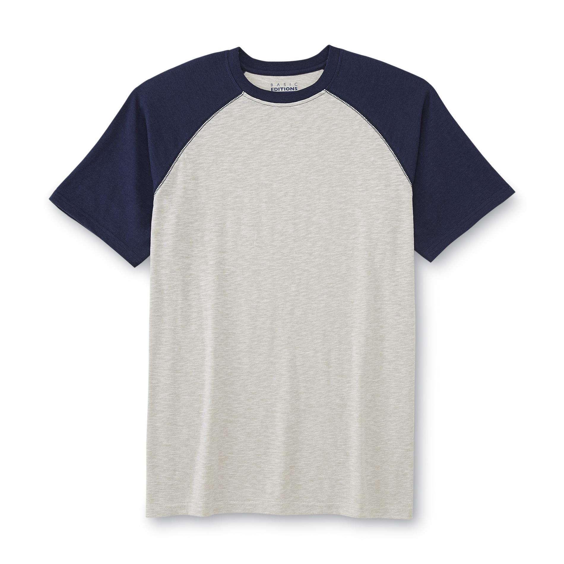 Basic Editions Men's Big & Tall Raglan T-Shirt