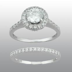 vedere le stelle sterling silver cubic zirconia bridal set