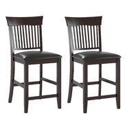 CorLiving Bistro Dining Chairs in Chocolate Black Bonded Leather, Set of 2 at Kmart.com