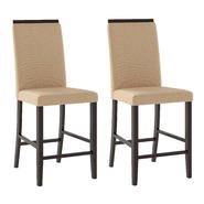 CorLiving Bistro Dining Chairs with Fabric Seats, Set of 2 at Kmart.com