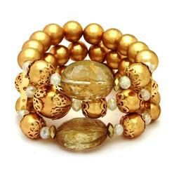 Jaclyn Smith Women's Goldtone Beaded Stretch Bracelet at Kmart.com