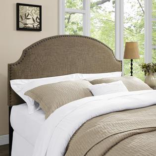 Dorel Home Furnishings Skylar Nailhead Linen Full/Queen Headboard, Multiple Colors