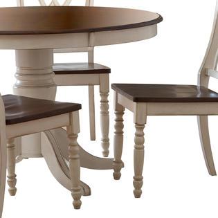 Oxford Creek 5pcs Antique White Round Dining Table Set