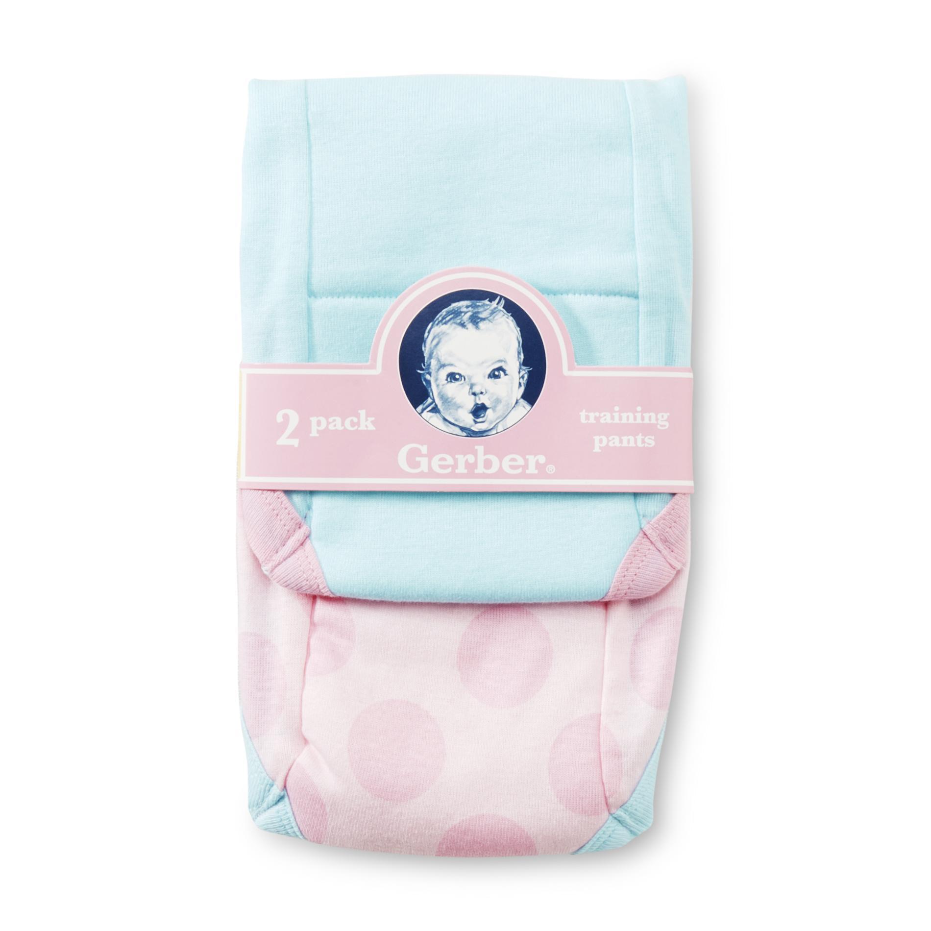 Gerber Toddler Girl's Training Pants - 2-Pack PartNumber: 024VA79349512P MfgPartNumber: 6491822DKG1502T