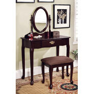 Furniture of America Princess Victoria Vanity Table with Stool at Sears.com
