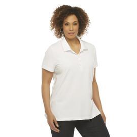 Basic Editions Women's Plus Pique Polo Shirt at Kmart.com