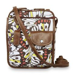Jaclyn Smith Women's Lifestyle Crossbody Bag - Butterfly Print at Kmart.com
