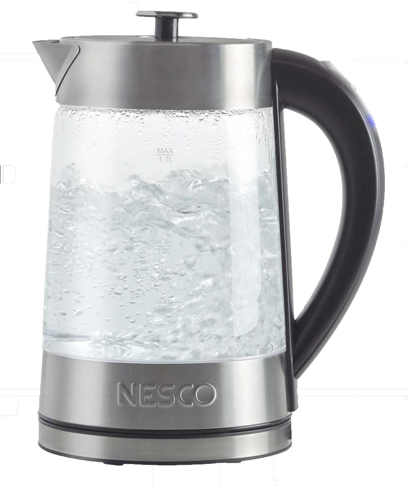 Nesco 1500 Watts, Electric Glass Water Kettle- 1.8 Qt.