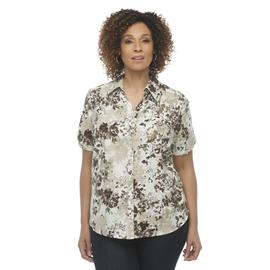Erika Women's Plus Camp Shirt - Floral Print at Sears.com