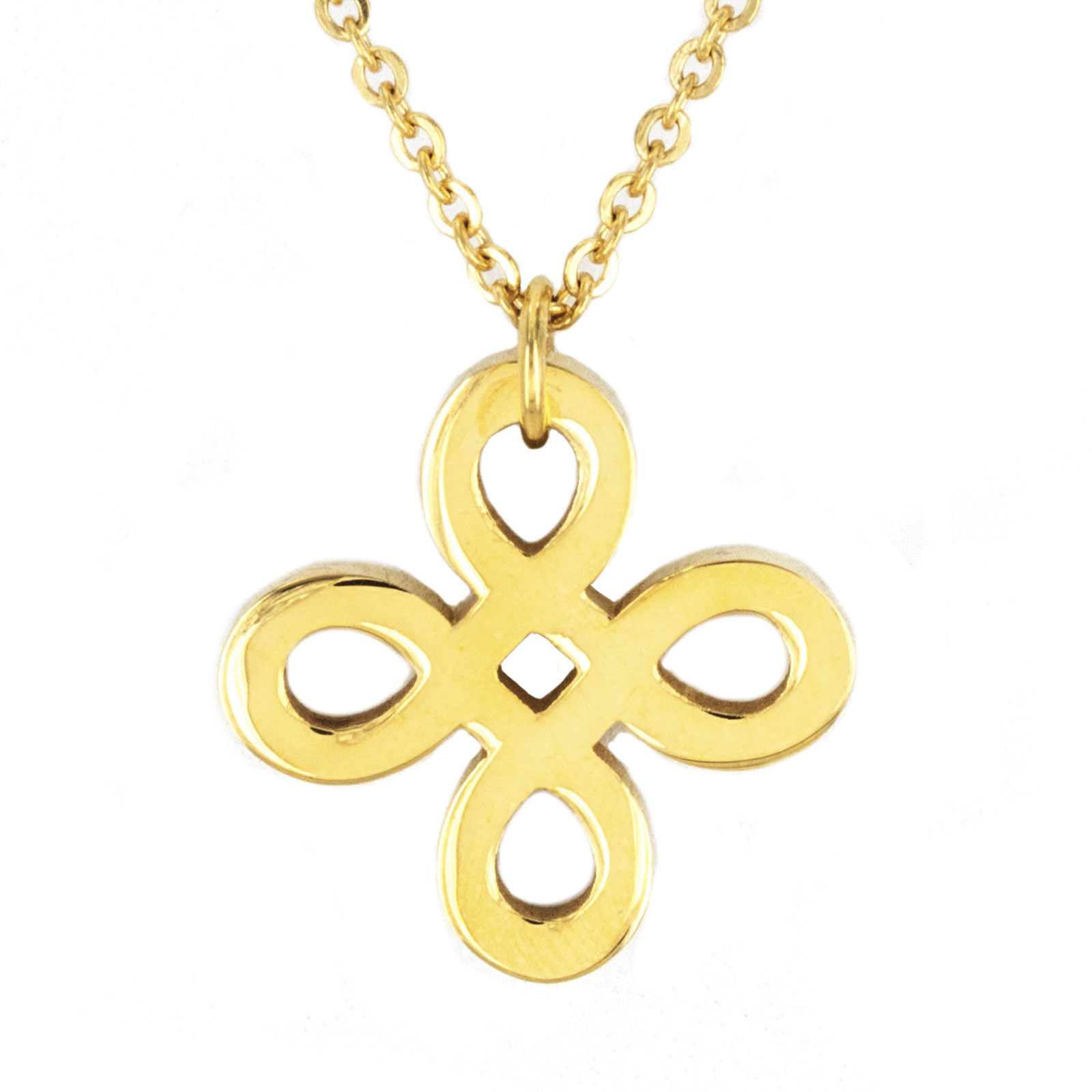 Gold Plated Stainless Steel Necklace With Pendant