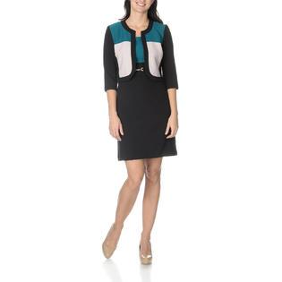 Studio One Women's Two Tone 2 Piece Jacket Dress - Online Exclusive