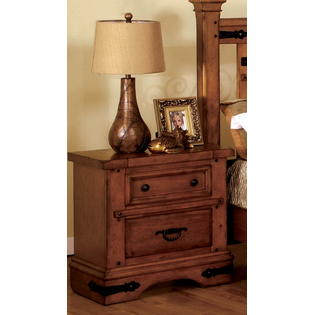 Furniture of America Holborne American Oak 2-Drawer Nightstand