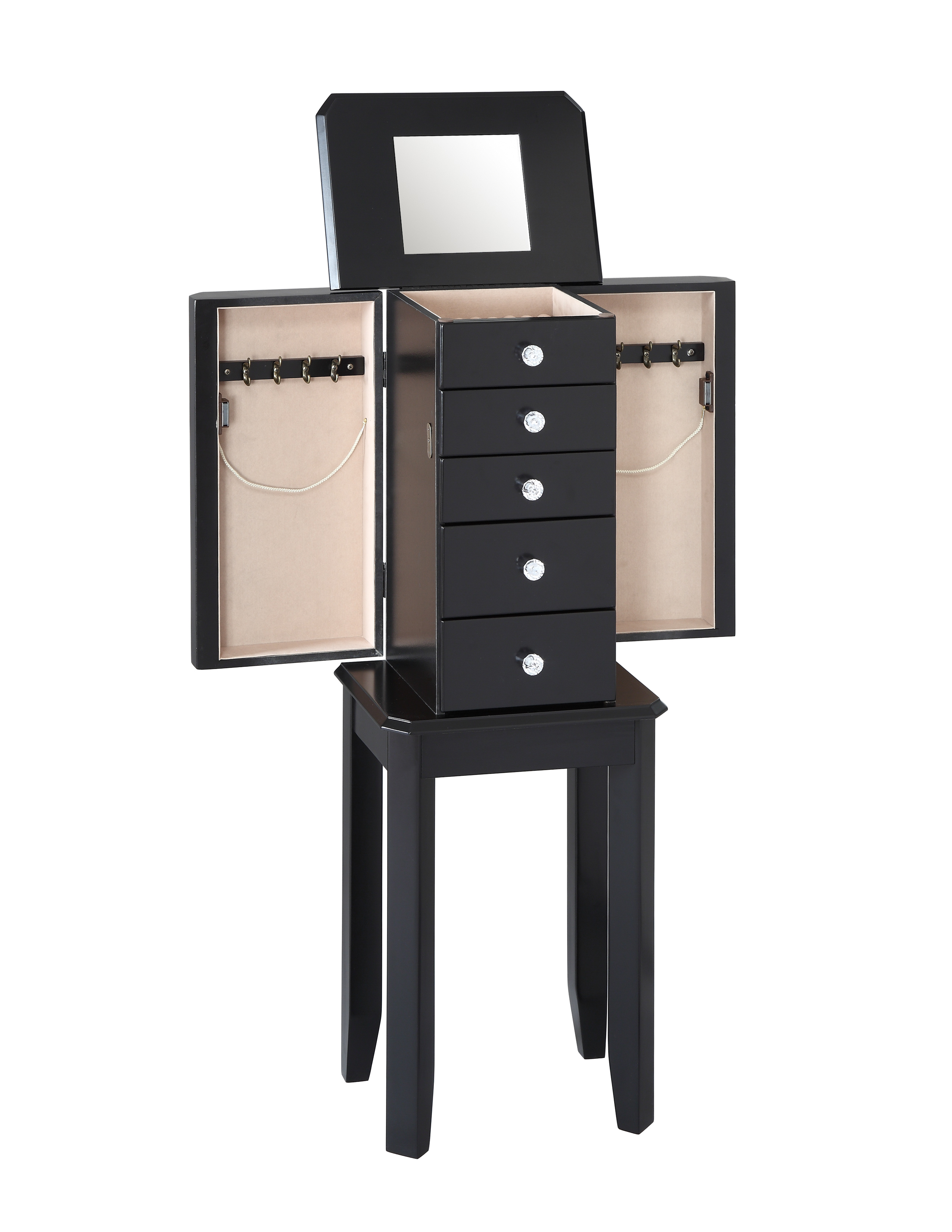 L Powell Black Jewelry Armoire - Home - Furniture - Accent ...