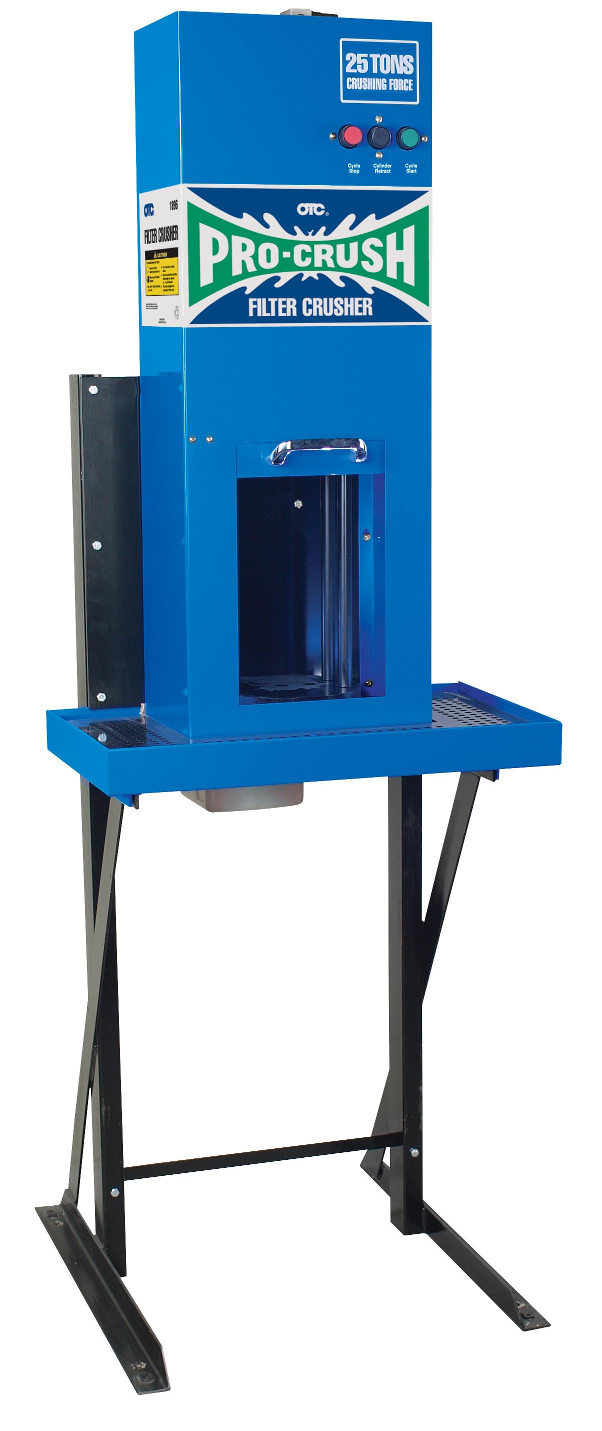OTC 1896 Oil Filter Crusher (Elect/Hyd.) PartNumber: 00913852000P KsnValue: 7208396 MfgPartNumber: 1896