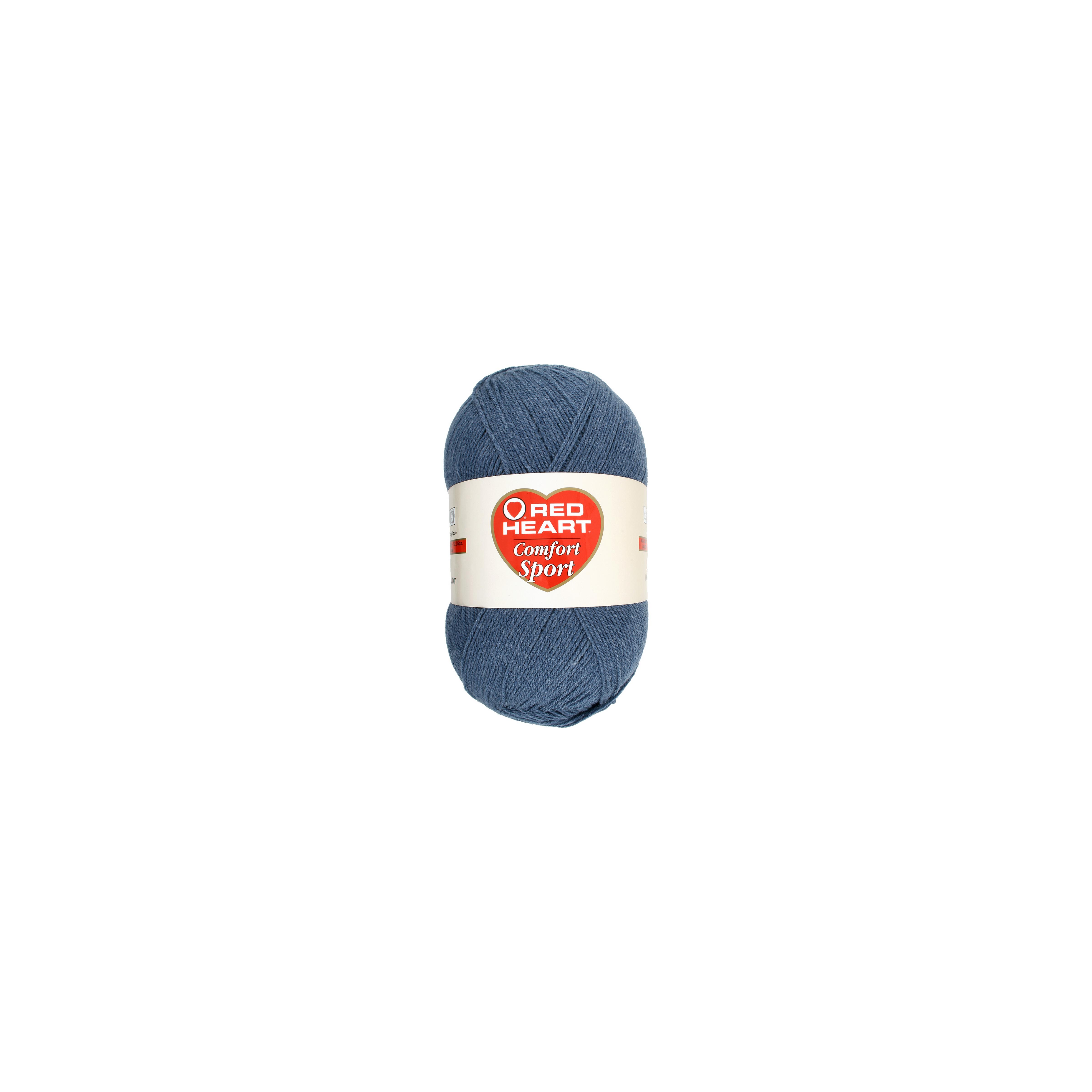 Red Heart Comfort Sport Yarn-Denim