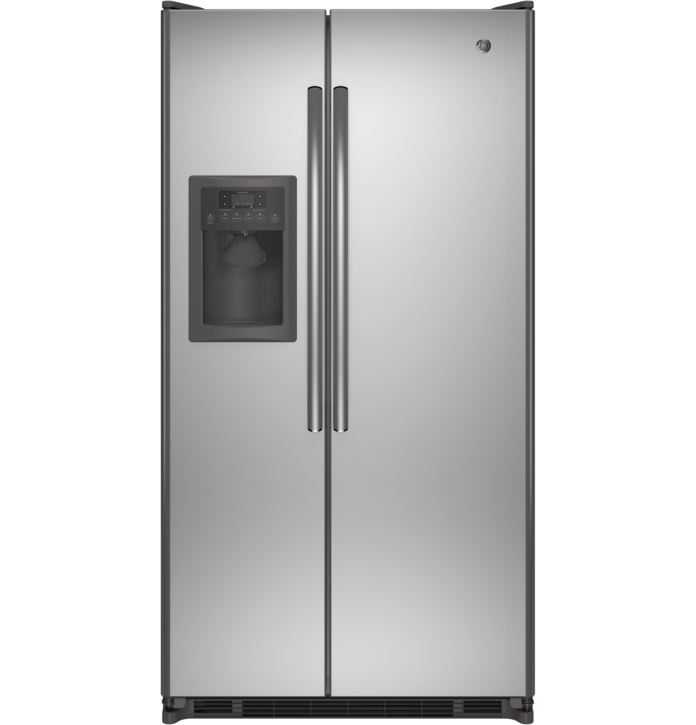 GE Appliances 24.7 cu. ft. Side-by-Side Refrigerator - Stainless Steel