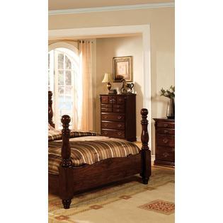 Furniture of America Tessier Dark Pine 6-Drawer Chest