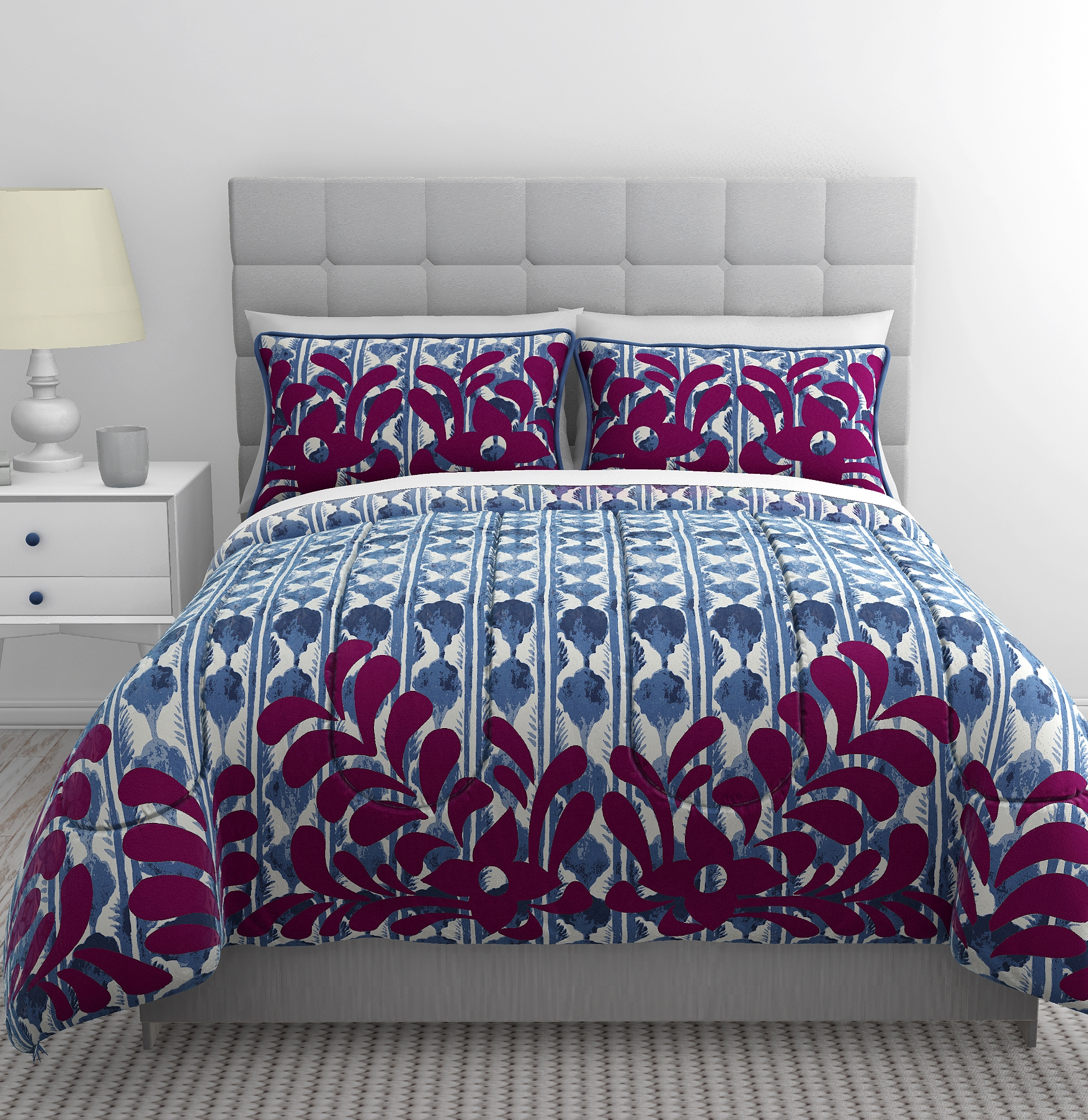 Image of Republic 3-Piece Shanti Duvet Set - Blue