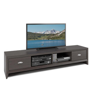 """CorLiving Lakewood Extra Wide TV Bench in Modern Wenge Finish, for TVs up to 80"""""""