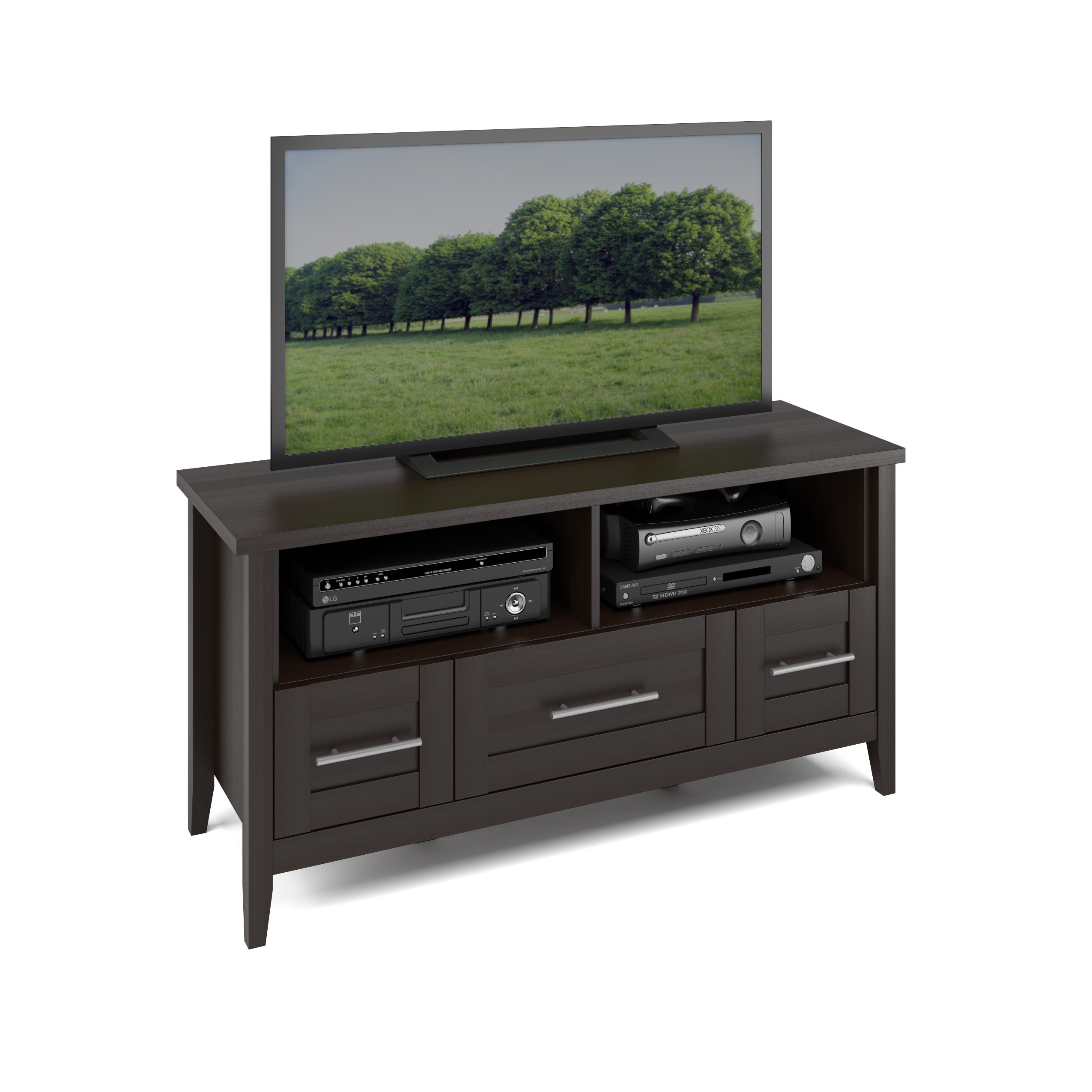 CorLiving Jackson TV Bench in Espresso Finish, for TVs up to 50