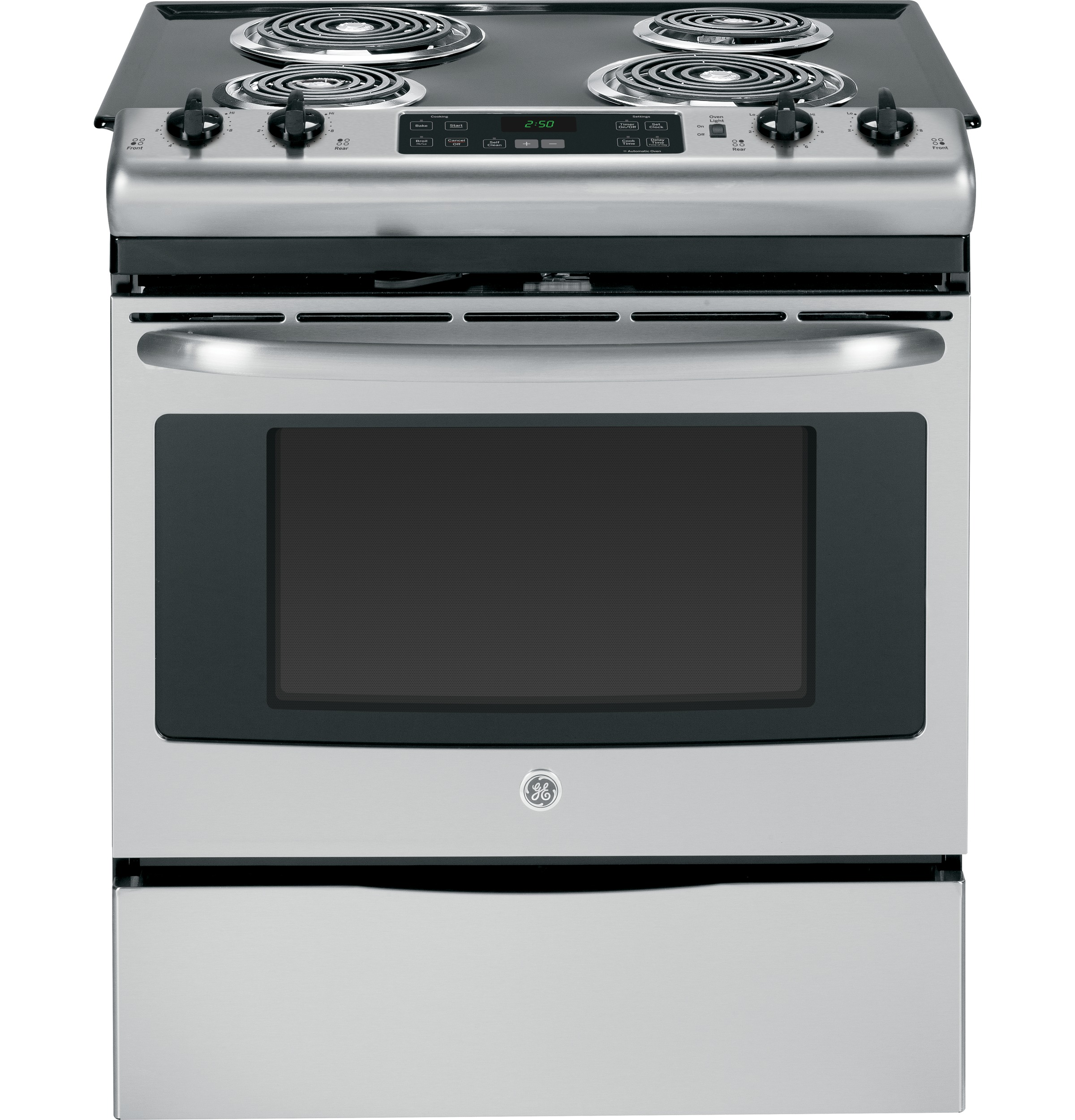 GE Appliances 30 Slide-In Electric Range - Stainless Steel