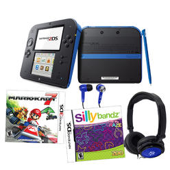 Nintendo 2DS Blue Mariokart 7 Bundle with Silly Bandz & Accessories at Kmart.com