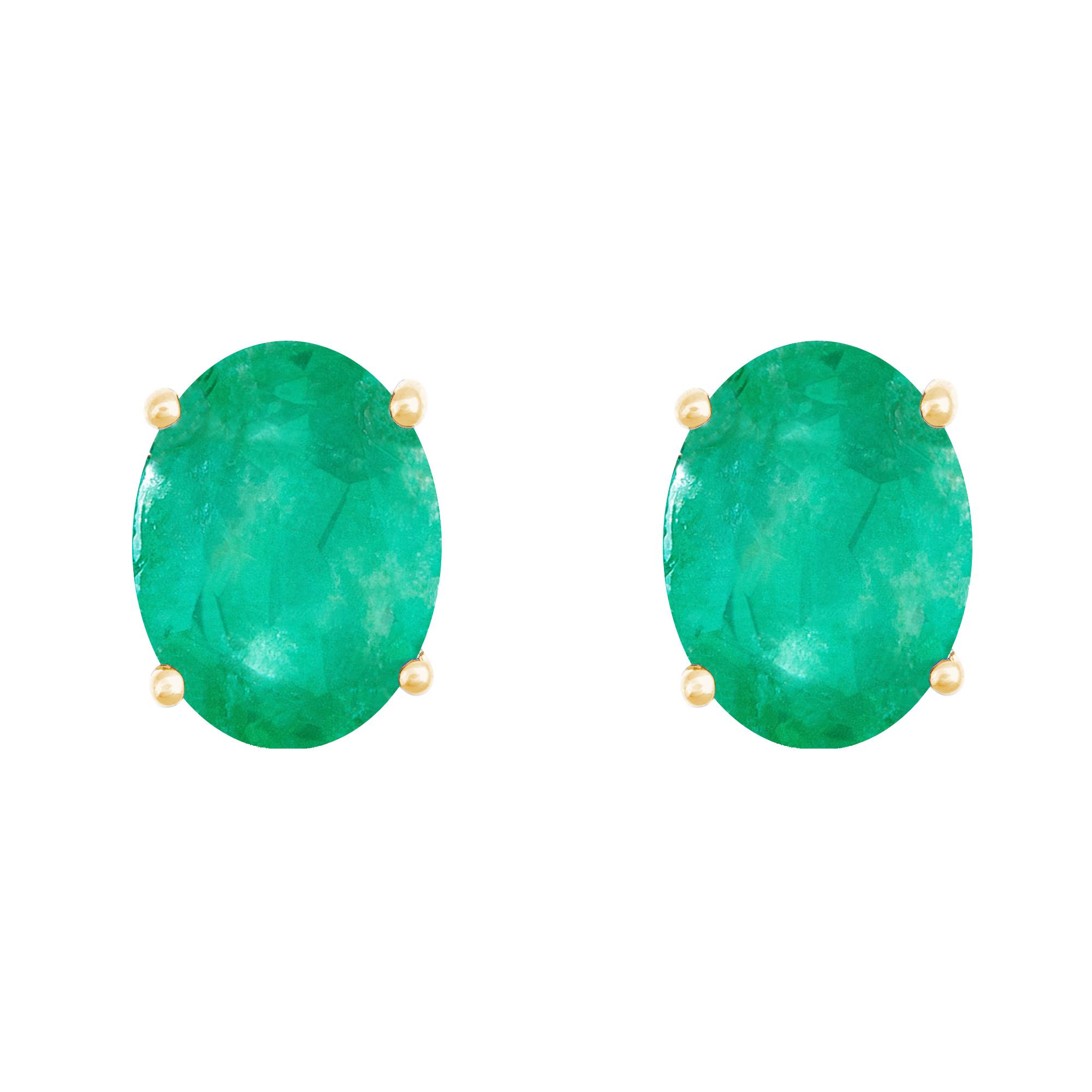 8x6mm oval birthstone stud earrings in 14kt yellow gold