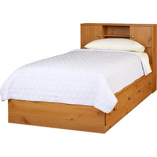 essential home essential home belmont mates twin bed honey pine 1 - Pine Bed Frame