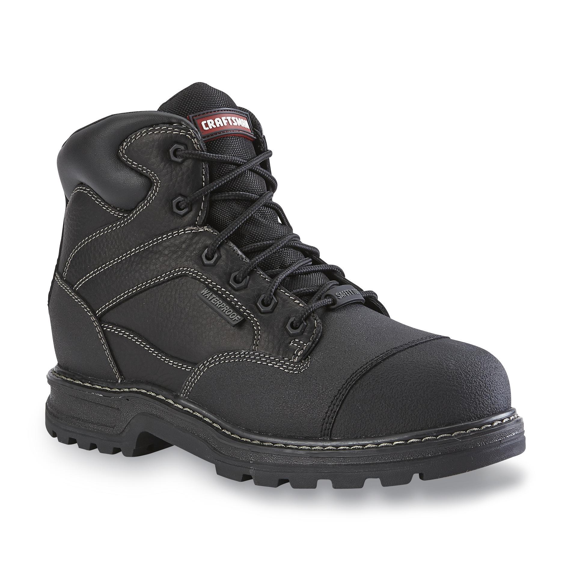 Craftsman Men's Theo Black Waterproof Steel-Toe Work Boot - Wide Width