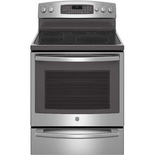 """GE Profile™ Series 30"""" Free-Standing Electric Convection Range w/ Warming Drawer - Stainless"""