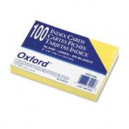 Oxford Unruled Index Cards, 4 x 6, Canary, 100 per Pack at Kmart.com