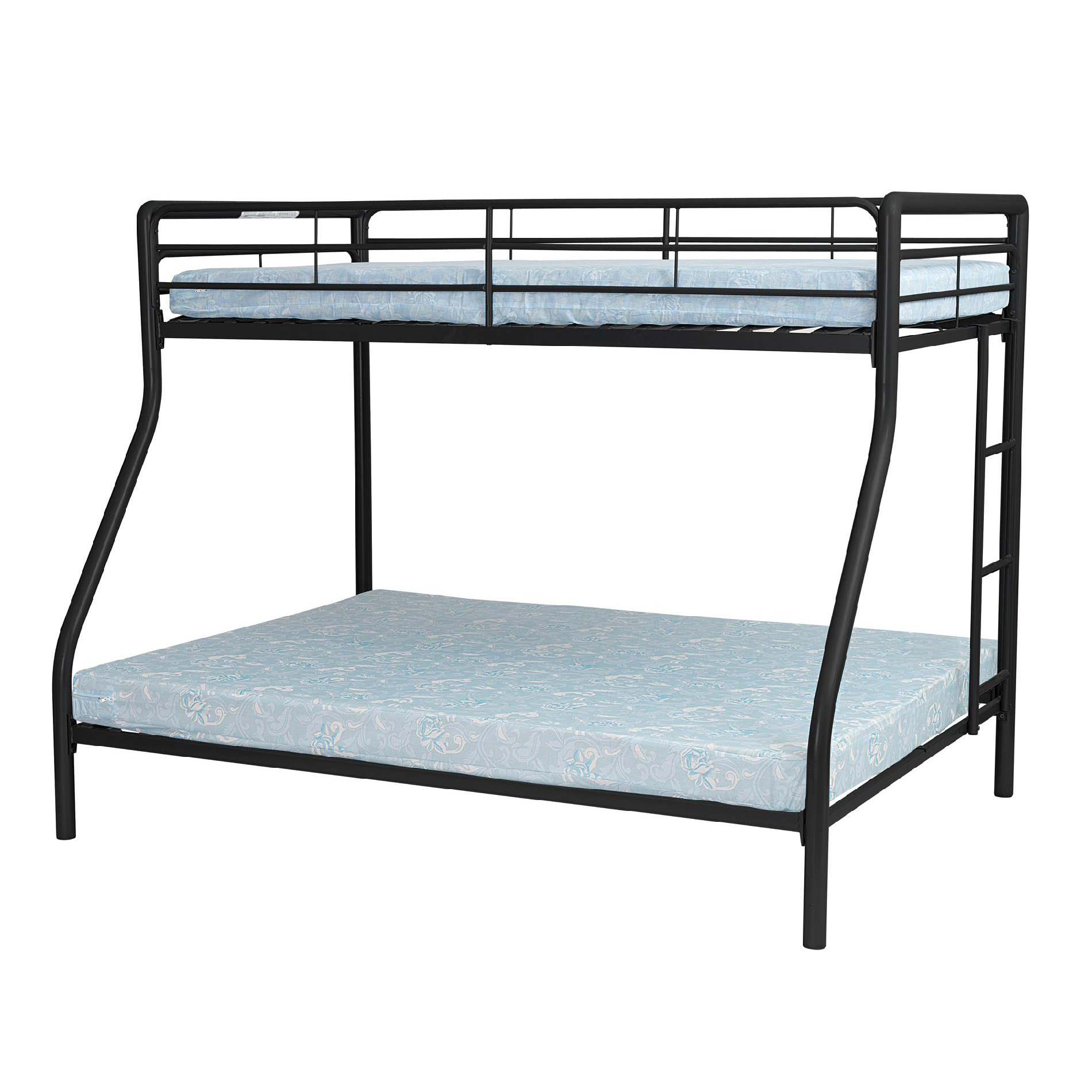 Essential Home Black Twin Over Full Metal Bunk Bed