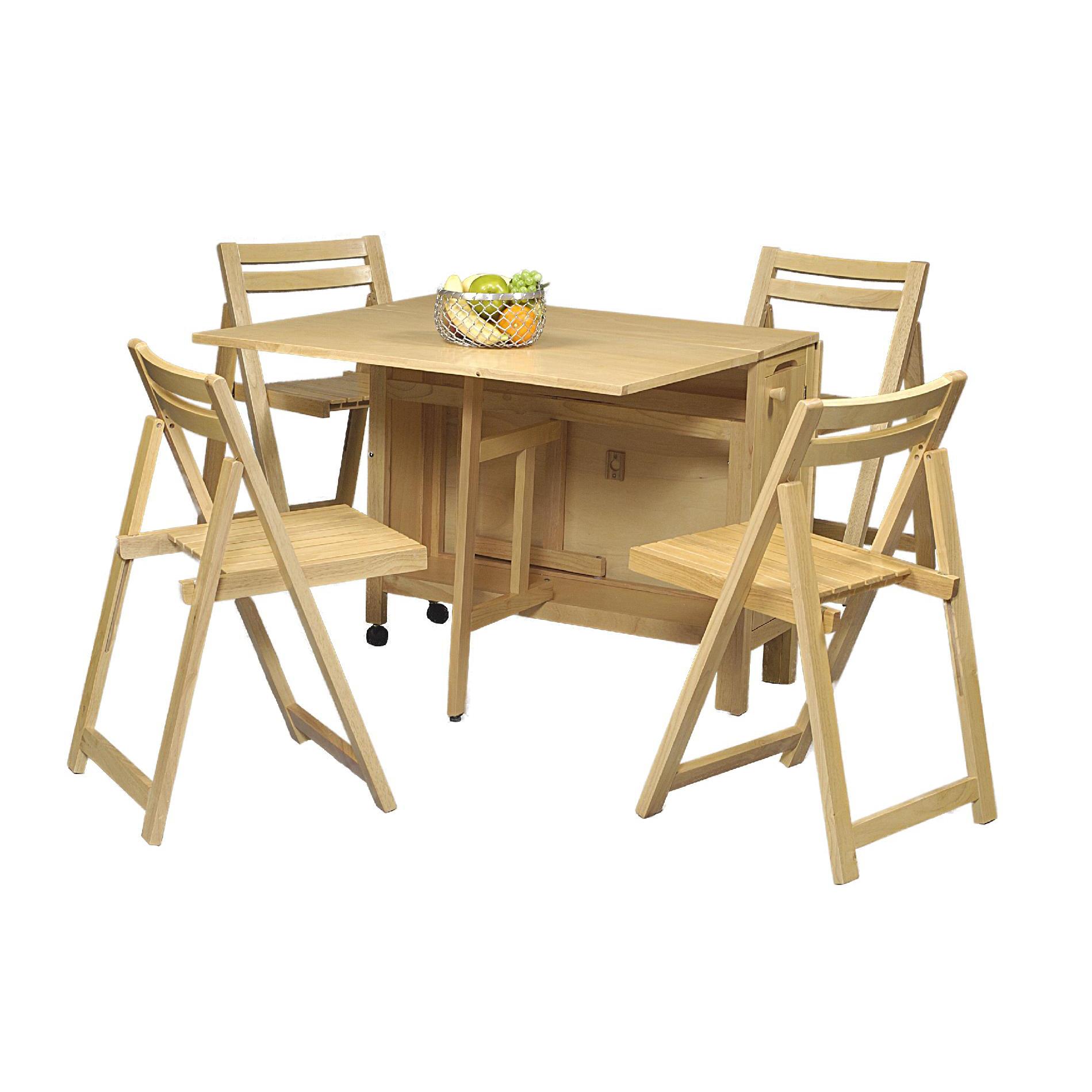 Linon Linon 5 Piece Space Saver Dining Set 2