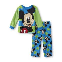 Disney Baby Mickey Mouse Toddler Boy's Fleece Pajama Shirt & Pants at Kmart.com