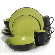Gibson Vivendi 2 Tone 16pc Dinnerware Set at Kmart.com