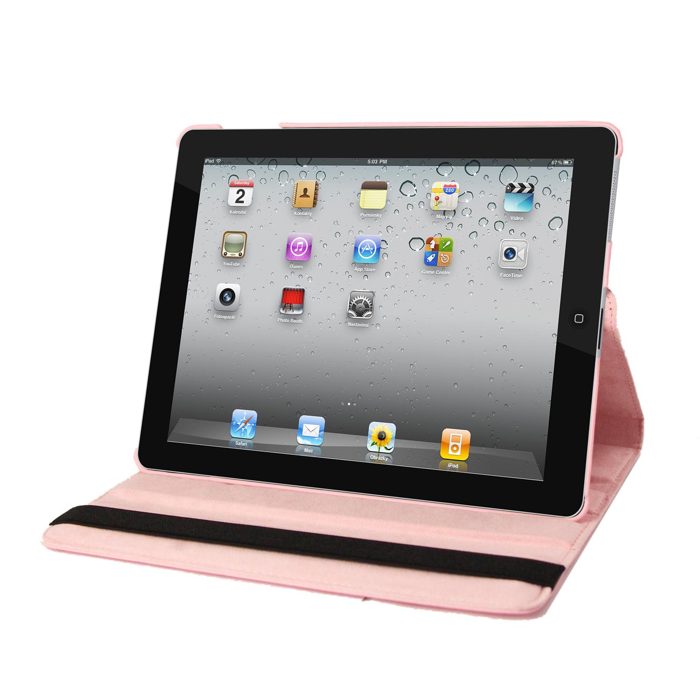 IPAD 360 Case, Faux, Light Pink