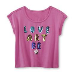 Piper Girl's Sequin Crop Top - Love, Art, Be at Kmart.com