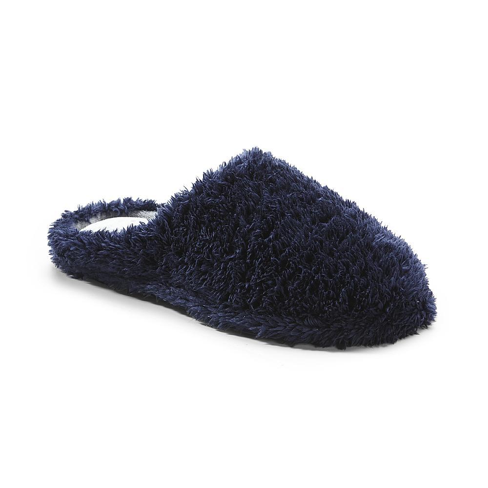 Dearfoams Women's Clog-Style Peacoat Blue Slipper