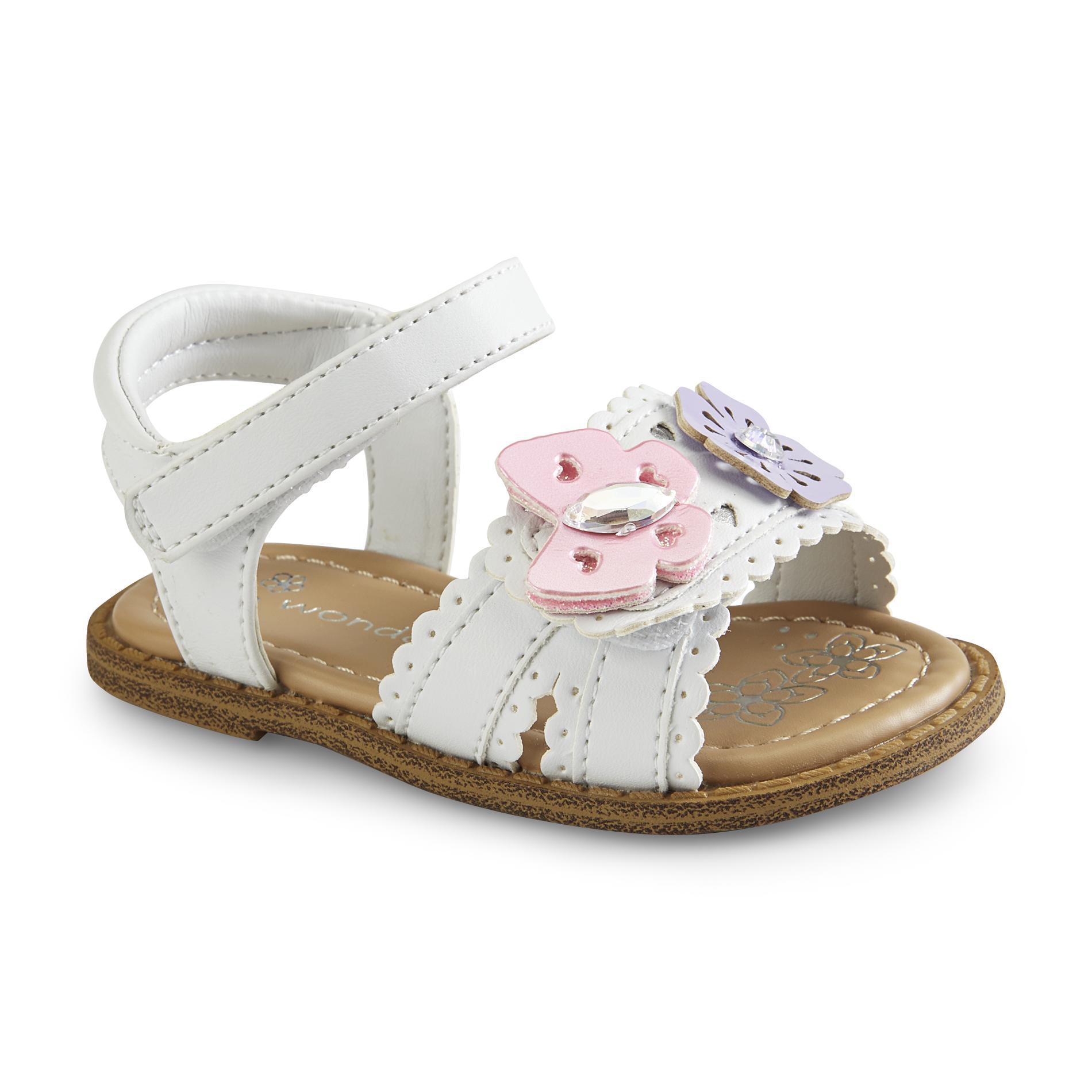 WonderKids Baby Girl's Multifly White Dress Sandal