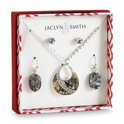 Jaclyn Smith Women's Silvertone & Rhinestone Teardrop Necklace & 2-Pairs Earrings at Kmart.com