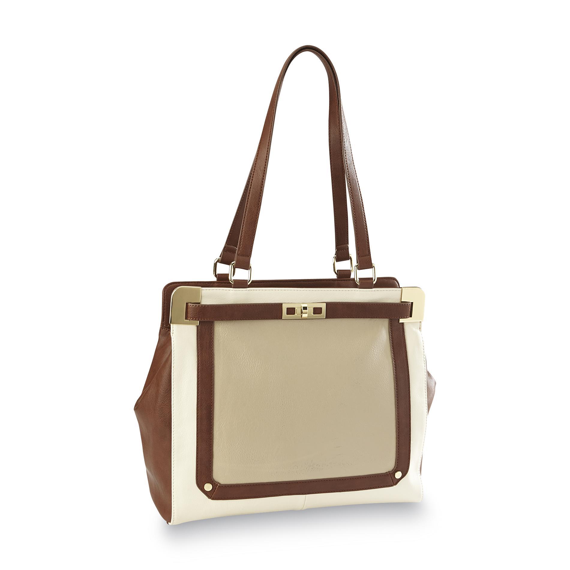 Jaclyn Smith Women's Carolina Satchel Handbag - Colorblock