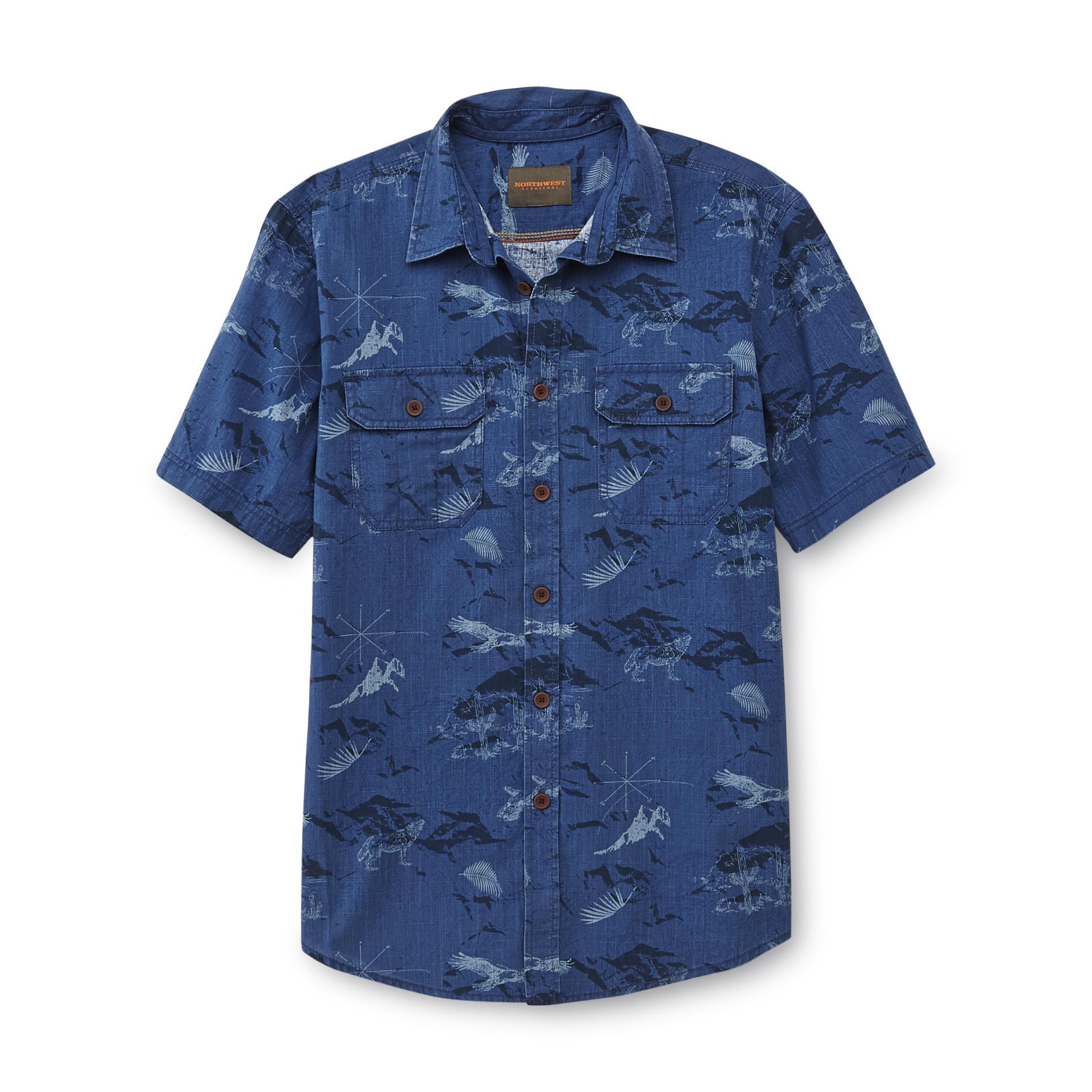 Northwest Teritory Men's 1-Piece Wildlife Print Cotton Button-Front Shirts