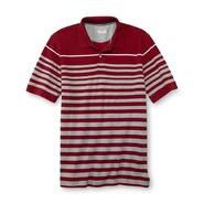 Basic Editions Men's Big & Tall Pique Polo Shirt - Heathered Stripe at Kmart.com