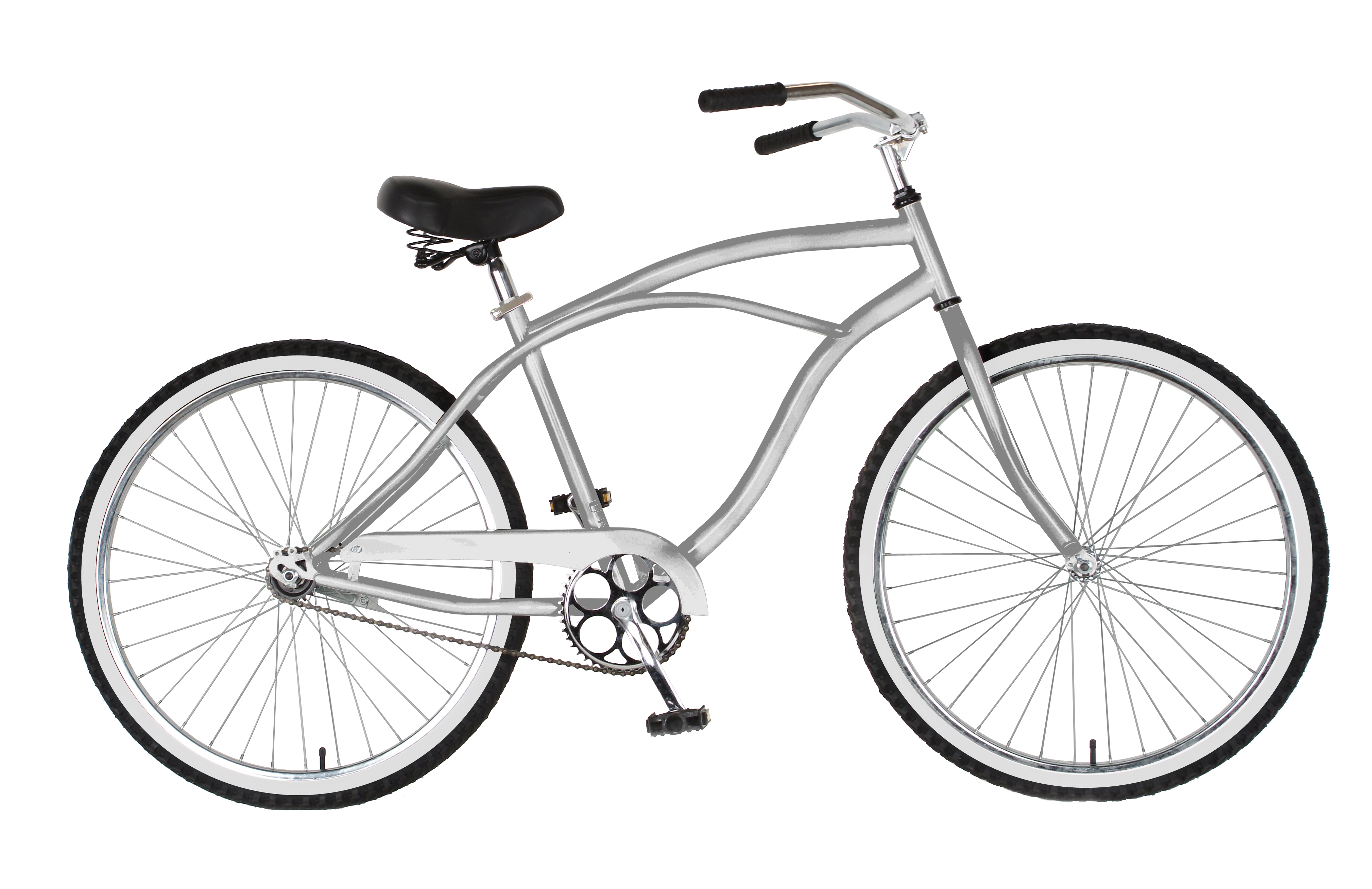 Cycle Force Group Cycle Force 26 inch Mens Cruiser Bike, Silver