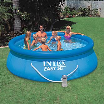 Easy set inflatable pool set summer fun from kmart - Easy set inflatable swimming pool ...