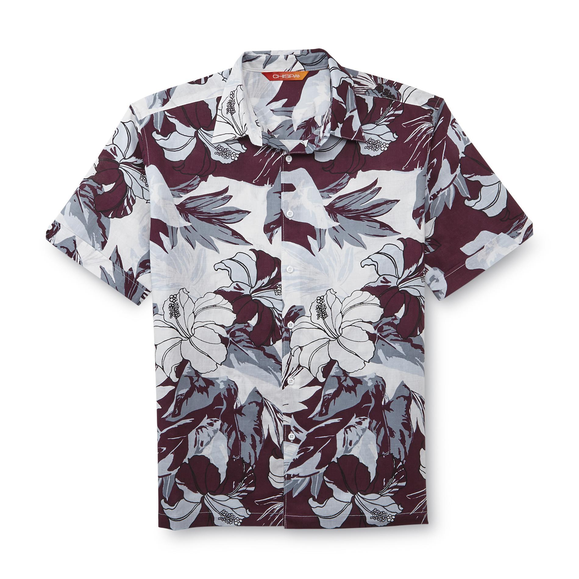 Meade Men's Camp Shirt - Floral Print