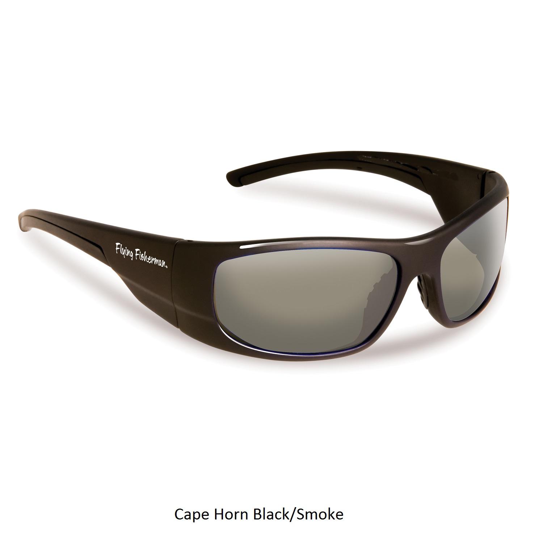 Flying Fisherman Fly Fish Cape Horn Sunglasses Black/Smoke