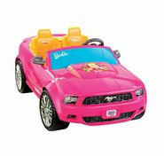 Power Wheels Barbie Ford Mustang - Pink at Kmart.com