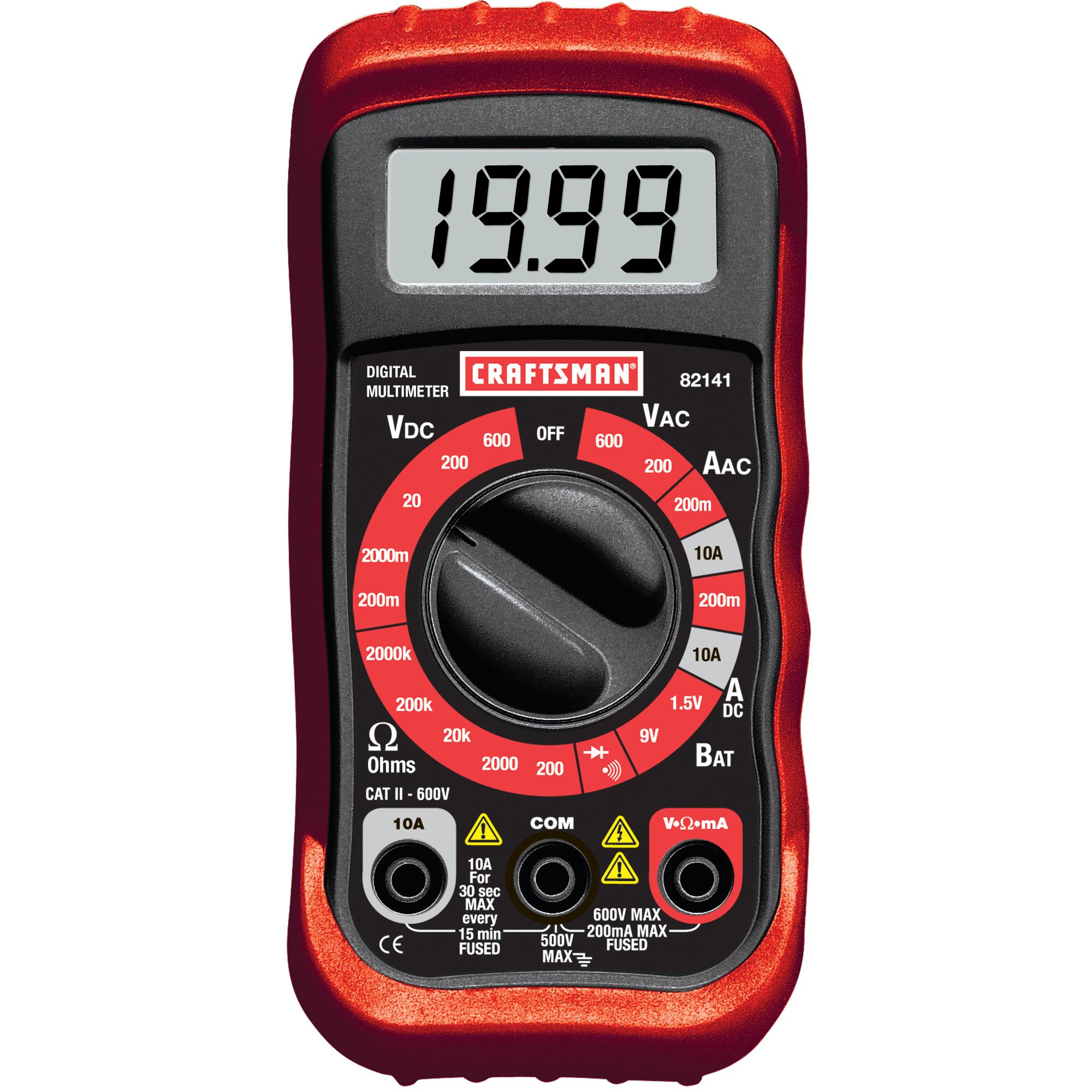 craftsman digital multimeter with ac voltage detector rh sears com